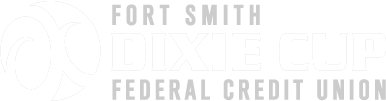 Fort Smith Dixie Cup Federal Credit Union Logo White
